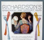 Click to view larger image of 1922 Richardson's Embroidery & Crochet Silks w/Woman (Image3)