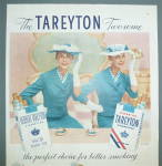 Click to view larger image of 1956 Tareyton Cigarettes with Twin Women Smiling (Image3)