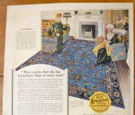 Click to view larger image of 1924 Congoleum Art Rugs with Women Looking At Rug  (Image3)