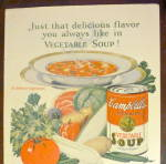 Click to view larger image of 1926 Campbell's Vegetable Soup w/ Bowl Of Soup (Image4)