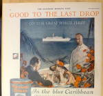 Click to view larger image of 1924 Maxwell House Coffee w/ Couple Dining on Caribbean (Image4)