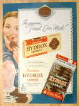 Click to view larger image of 1950 Sunshine Hydrox Cookies with Woman Smiling  (Image1)