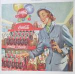 Click to view larger image of 1949 Coca Cola (Coke) With Woman Shopping  (Image3)