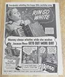 1944 Rinso Soap With Girl Whistling
