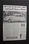 Click to view larger image of 1937 Dual Ad: Hudson Car & Plymouth Car (Image1)