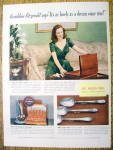Click to view larger image of 1940 Ad:Rogers Bros. Silverplate w/Geraldine Fitzgerald (Image1)
