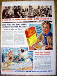 Click to view larger image of 1940 Post Toasties w/ a Boy Scout with a Bowl of Cereal (Image1)