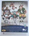Click to view larger image of 1999 DirecTV w/ Brett Favre, Dan Marino & David Bruton (Image1)