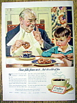 Click here to enlarge image and see more about item 1886: 1940 Coffee Ad w/Boy Watching Man by Leyendecker