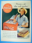 Click to view larger image of 1938 Coca Cola (Coke) with Woman Grabbing a Bottle (Image1)