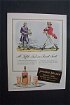 1941 Dual Ad: Johnnie Walker Black Label & Mobilgas