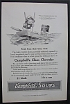 1916 Campbell Soup with Campbell Kid on a Boat