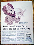 Vintage Ad:1964 Harris Bank with Hubert The Harris Lion
