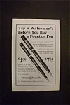 1926  Waterman's  Fountain  Pen
