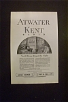 Click here to enlarge image and see more about item 2044: Vintage Ad: 1925 Atwater Kent Radio