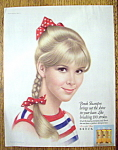Click to view larger image of 1967 Breck Shampoo with Lovely Brown Eyed Woman (Image1)