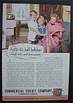 Click here to enlarge image and see more about item 2097: Vintage Ad: 1937 Commercial Credit Company