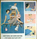 Click to view larger image of 1959 Super Kem-Tone Paints w/Family Standing (Image2)