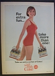1965 Coca Cola (Coke) w/Woman in Bathing Suit