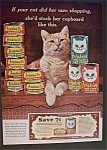 Click here to enlarge image and see more about item 2145: 1965  Friskies  Cat  Food