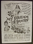 Click to view larger image of 1949 Dual Ad: My Dream Is Yours & South Of St. Louis (Image1)
