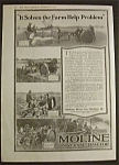 Click here to enlarge image and see more about item 2170: Vintage Ad: 1918 Moline Universal Tractor/Elgin Watches