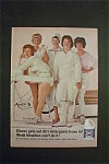 1965 Clorox Bleach with 5 Different Women