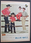 1958 Blue Bell Wranglers with Family Wearing Clothes