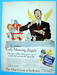 Click here to enlarge image and see more about item 2208: Vintage Ad: 1949 Chase & Sanborn Coffee