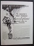 Click here to enlarge image and see more about item 2213: Vintage Ad: 1934  Cutler  Hammer