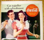 Click to view larger image of 1941 Coca Cola (Coke) with Man & Woman By Counter (Image2)