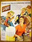 1956 Schlitz Beer with People Playing Instruments