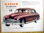 Click to view larger image of Vintage Ad: 1949 Kaiser (Image2)