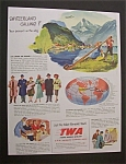 Click here to enlarge image and see more about item 2360: Vintage Ad: 1948 TWA -Trans World Airline