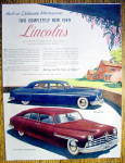 Click to view larger image of Vintage Ad: 1949 Lincoln & Lincoln Cosmopolitan (Image1)