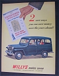 1951  Dual  Ad:  Willys  &  Budweiser