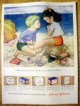 Click to view larger image of 1949 Johnson & Johnson Surgical Dressings w/Boy & Girl (Image1)