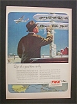 Click here to enlarge image and see more about item 2465: Vintage Ad: 1951  TWA