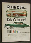 Click to view larger image of 1951 Dual Ad:  Kaiser  &  Tide  Detergent (Image1)