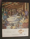 Click here to enlarge image and see more about item 2506: Vintage Ad: 1951 Beer Belongs By Douglas Crockwell