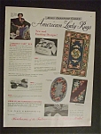 1950 Mary Gertrude Clack's American Lady Rugs