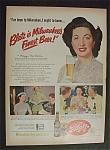 Vintage Ad: 1951 Blatz Beer with Maggi Mc Nellis
