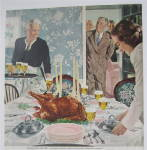 Click to view larger image of 1951 Beer Belongs By Douglas Crockwell (Thanksgiving) (Image3)