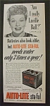 Vintage Ad: 1952 Auto Lite Battery with Lucille Ball