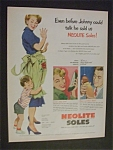 1951 Neolite Soles with Boy Hugging Woman's Legs