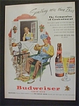 1951 Dual Ad: Budweiser  Beer  &  Planters  Peanuts