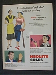 1951 Neolite Soles with Woman & Daughter