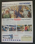 Click here to enlarge image and see more about item 2691: Vintage Ad: 1951  Greyhound