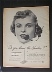 Click here to enlarge image and see more about item 2716: Vintage Ad: 1952 Bell Telephone System