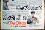 Click to view larger image of Vintage Ad: 1952 Purolator Oil Filter w/ Burns & Allen (Image3)